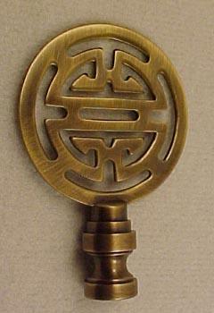 Lamp Finials - Antique Brass Finial