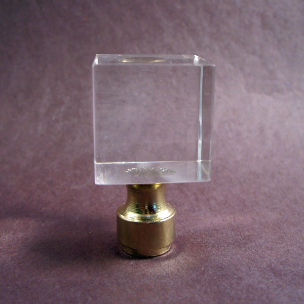 Lamp Finials: Clear Square Hard Acrylic Block | Lamp Finials to ...