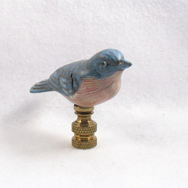 bird lamp finial bluebird lamp finials to fit any decorating style. Black Bedroom Furniture Sets. Home Design Ideas