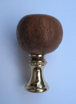 Finial Brown Wooden Acorn 3 3 4 Quot Overall Lamp Finials