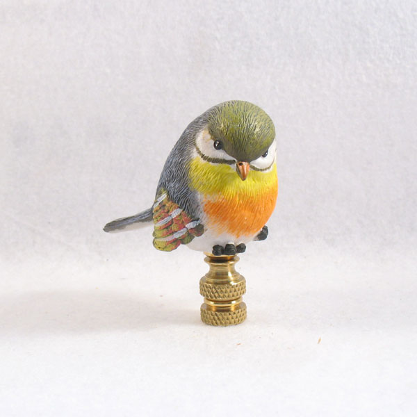 bird lamp finial cute colorful bird lamp finials to fit any. Black Bedroom Furniture Sets. Home Design Ideas