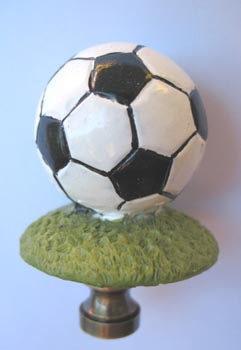 Lamp Finial Soccer Ball 2 1 2 Tall Overall Lamp Finials To Fit Any Decorating Style