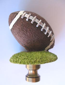 Lamp Finial Football 2 5 8 Tall Overall Lamp Finials To Fit Any Decorating Style