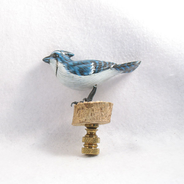 bird lamp finial bluejay lamp finials to fit any decorating style. Black Bedroom Furniture Sets. Home Design Ideas