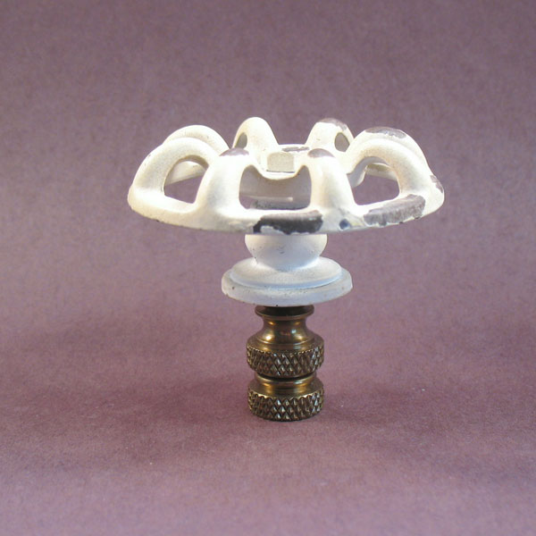 Novelty Lamp Finials : Lamp Finial: White Faucet Lamp Finials to fit any decorating style.